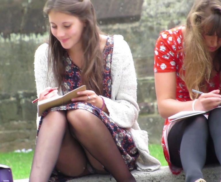 lovely-schoolgirl-upskirt-sitting - Upskirt Lover